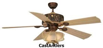 standard size fans 52 woodlands rustic faux antler ceiling fan
