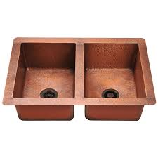 33x22 Copper Kitchen Sink by Copper Sinks