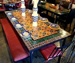 amazing tile top outdoor dining table 11 inspiring mosaic ceramic