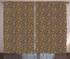 gardine schlafzimmer kräuselband vorhang mit schlaufen und haken abakuhaus orange und blau zusammenfassungs wellen augen kaufen otto