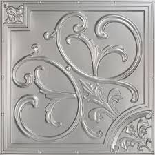 Antique Ceiling Tiles 24x24 by Silver Classic Pvc Ceiling Tiles Ceilings The Home Depot
