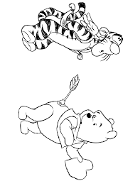 Winnie The Pooh And Tigger Valentines Day Coloring Page