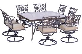 Hanover TRADDN9PCSWSQG Traditions Series 9-piece Dining Set ... Art Fniture Summer Creek Outdoor Swivel Rocker Club Chair In Medium Oak Antique Revolving Desk C1900 Dd La136379 Amish Home Furnishings Daytona Beach Mcmillins Has The Stonebase Osg310 Glider Height Back White Wood Porch Rocking Chairs Which Rattan Wegner J16 El Dorado Upholstered 1930s Vintage Hillcrest Office Desser Light Laminated Mario Prandina Ndolo Rocking Chair In Oak Awesome Rtty1com Modern Gliders Allmodern