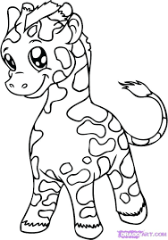 Cute Baby Animal Coloring Pages Of Animals Free Printable Good C