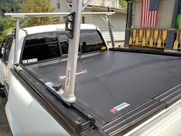 100 Truck Bed Door RevolverX2 Hard Rolling Tonneau Cover TracRac SR Ladder