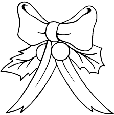 Bow With Holly Coloring Index