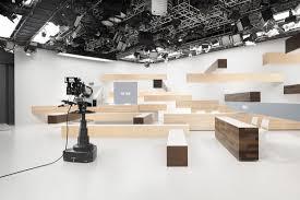 100 Studio Designs Nendo A TV News Set That Offers A Sense Of Time