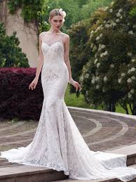 stunning spaghetti strap lace court train floor length wedding