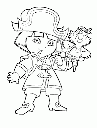 Dora Being Pirate Coloring Pages
