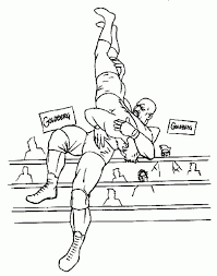 Pin WWE Clipart Coloring Page 8