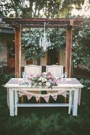 Shabby Chic Sweetheart Table With Bunting