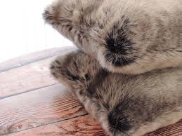 Pier One Decorative Pillows by Custom Chinchilla Fur Gray Faux Fur 18 X 18 In Decorative Pillow