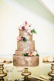 Top Chocolate Gold Handpainted Charleston Wedding Cake Idea At Ideas