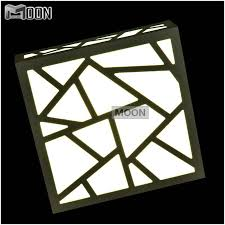 creative led wall light polymer wood carving water cube wall