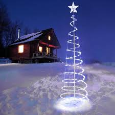 Multicolor Lighted Spiral Christmas Tree by Amazon Com Unitech Inc 5 Ft Clear Led Lighted Spiral Christmas
