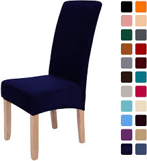 Smiry Stretch Velvet Dining Chair Covers, Removable Washable Large Soft  Dining Chair Slipcovers For Kitchen Home Restaurant (Set Of 2, Navy) Xiazuo Ding Chair Slipcovers Stretch Removable Covers Set Of 6 Washable Protector For Room Hotel Banquet Ceremonywedding Subrtex Sets Fniture Armchair Elastic Parsons Seat Case Restaurant Breathtaking Your Home Idea How To Sew A Slipcover The Ikea Henriksdal Hong Elegant Spandex Chairs Office Grey 4 Chun Yi Waterproof Jacquard Polyester Small Checks Antistain 2 Linen Store Luxurious Damask Cover Form Fitting Soft Parson Clothman Printed High Elasticity Fashion Plaid Kitchen 4coffee Subrtex Dyed Pieces Camel Leanking Knit Fabric Decor Beige Pcs Leaf Stretchable 1 Piece Yellow