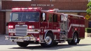 Glendale Fire Dept. New Engine 26 & Truck 26 Responding - YouTube