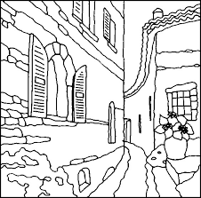 Cyprus Village Coloring Page
