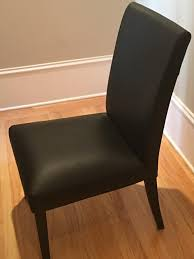 Ikea Black Leather Dining Chairs, HENRIKSDAL Chairs (TWO CHAIRS): San  Francisco, CA | Trove Market