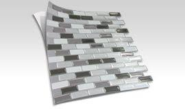3d gel like tiles that are peel and stick for an easy back splash