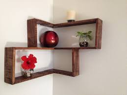 Wall Decor Shelves Ideas Rustic Pallet Decorative Shelf Red Ball Decors Diy White Colored Wooden