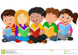 Children Reading Clipart ClipartXtras