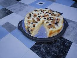 pudding obst kuchen