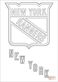 Click The New York Rangers Logo Coloring Pages To View Printable Version Or Color It Online Compatible With IPad And Android Tablets