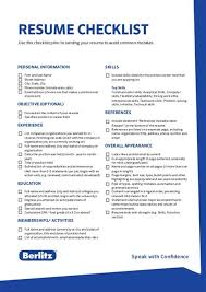 Resume Checklist Unsw Preparation And Samples Current Students
