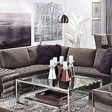 Vapor Sectional Aubergine Living Room Inspiration