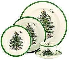 Spode Christmas Tree 5 Piece Dinnerware Set Service For 1