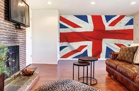 chambre des angleterre drapeau anglais imprimé en poster panoramique union londres