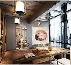 la modernité dans la maison avec le rideau de séparation design