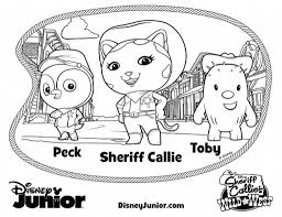 Disney Junior Coloring Pages With Jr Color