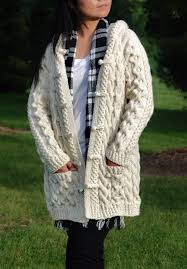 the perfect chunky sweater hand knit women chunky cable aran