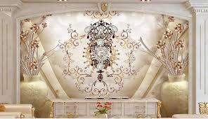 europäische romantische und eleganten tapete für wand 3 d klassische tv wohnzimmer schlafzimmer tapeten wohnkultur