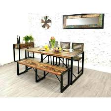 Dining Room Table Bench Tables Industrial Reclaimed And