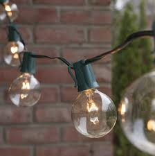 patio lights commercial clear globe string lights 33 g50 e17