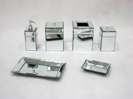 Crackle Glass Bathroom Set by Jeweled Bathroom Accessories Bella Lux Mirrored Rhinestone