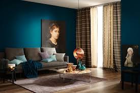trendfarbe schöner wohnen farbe moderne wohnzimmer blau
