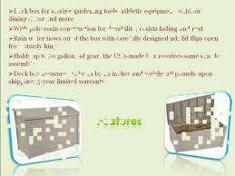 Suncast Resin Deck Box 50 Gallon suncast db5000 50 gallon deck box youtube