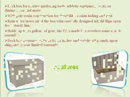 Suncast 195 Gallon Deck Box Manual by Suncast Db5000 50 Gallon Deck Box Youtube