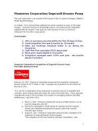 flowserve corp case study mergers and acquisitions companies