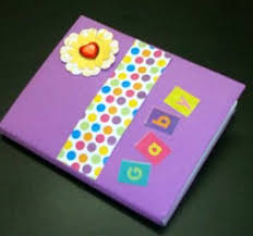 How To Decorate Your Notebook Scrapbook Style Video By SimpleKidsCrafts