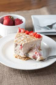 No Bake Peanut Butter Strawberry Fluff Pie is an easy summer treat A salty crushed