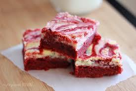 red velvet swirl brownies