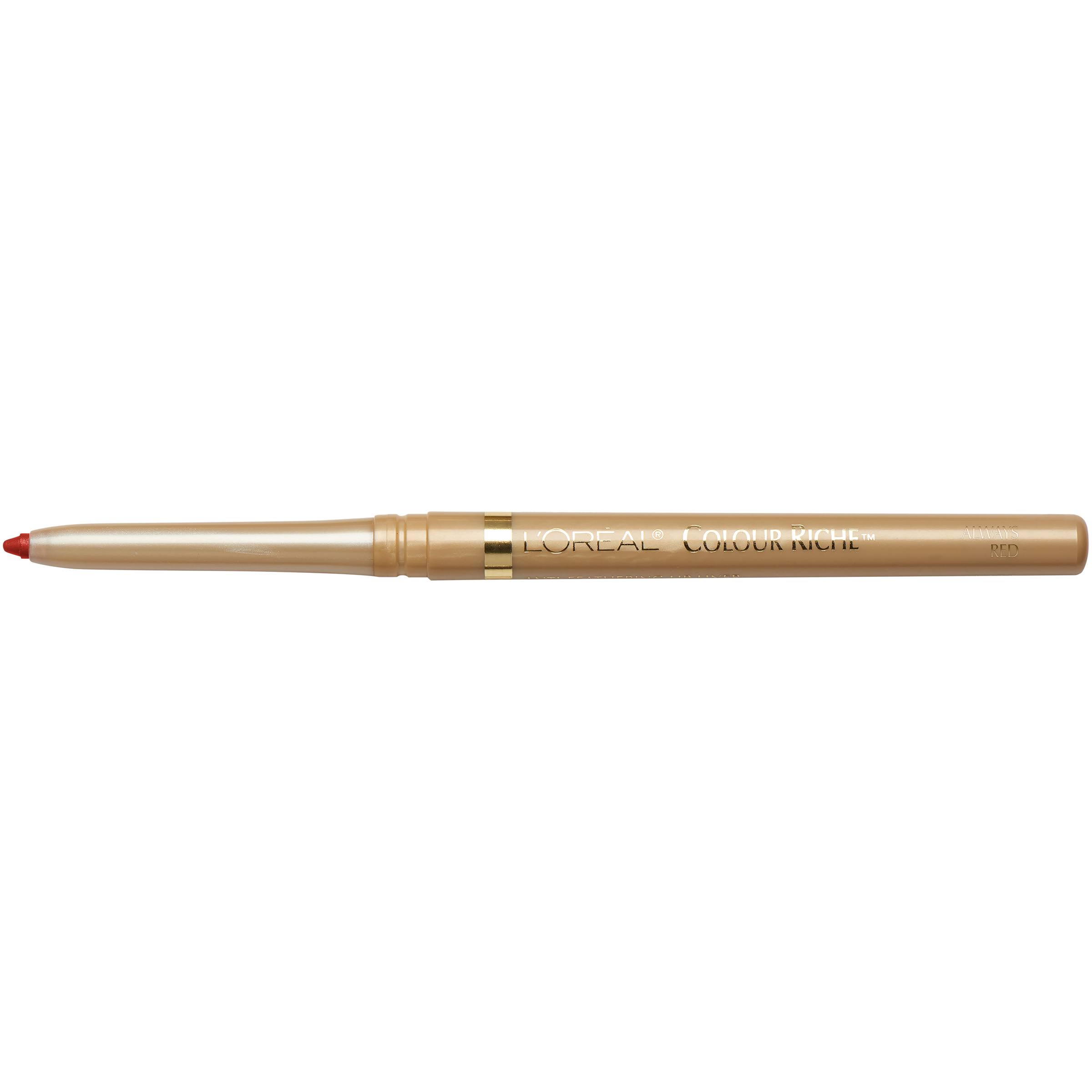 L'Oréal Colour Riche Lip Liner - 765 Always Red, .007oz