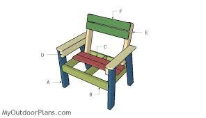 large outdoor chair plans myoutdoorplans free woodworking
