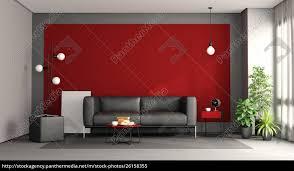 lizenzfreies bild 26158355 wohnzimmer mit schwarzem sofa