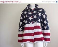 American Flag Jacket Stars And Stripes Fourth Of July Tapestry 90s Patriotic Clothing Red White Blue
